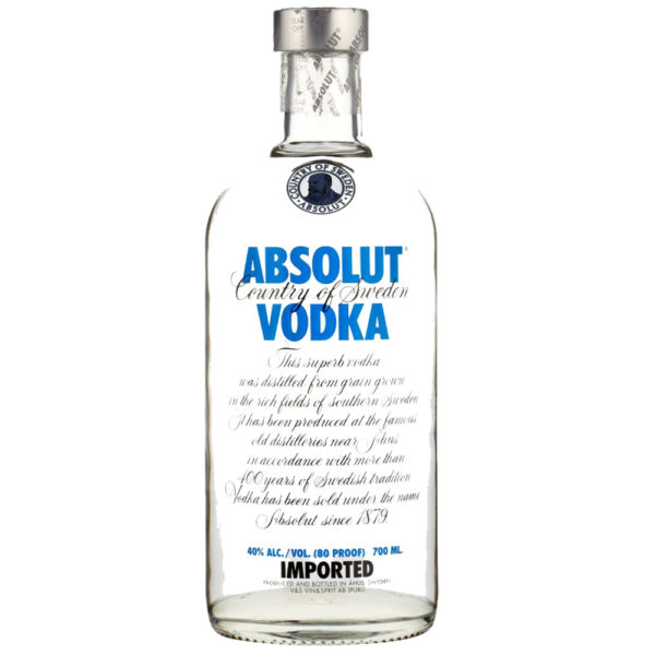 Absolut Swedish Vodka Delivery London